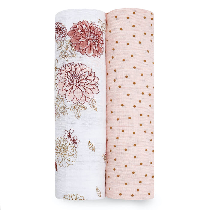 Aden + Anais Classic Muslin Swaddle Wraps 2-Pack