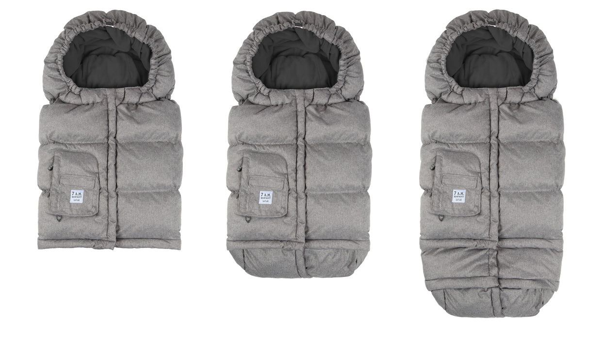 Blanket 212 Footmuff - Heather Grey/Grey