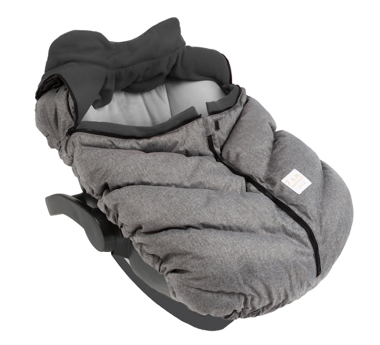 Car Seat Cocoon - Heather Grey/Grey