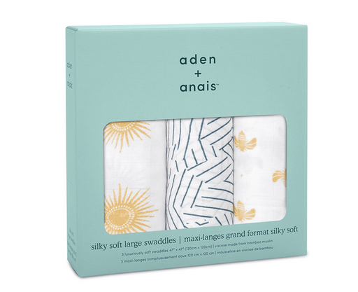 Aden + Anais Silky Soft Swaddle 3-Pack
