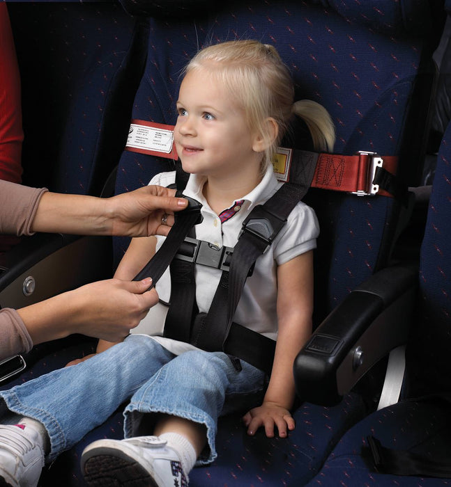 Kids Fly Safe CARES In-Flight Harness on Child