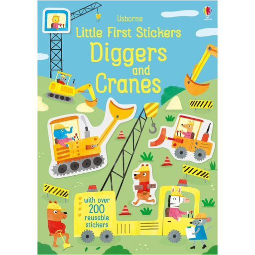 LITTLE FIRST STICKERS DIGGERS AND CRANES BOOK