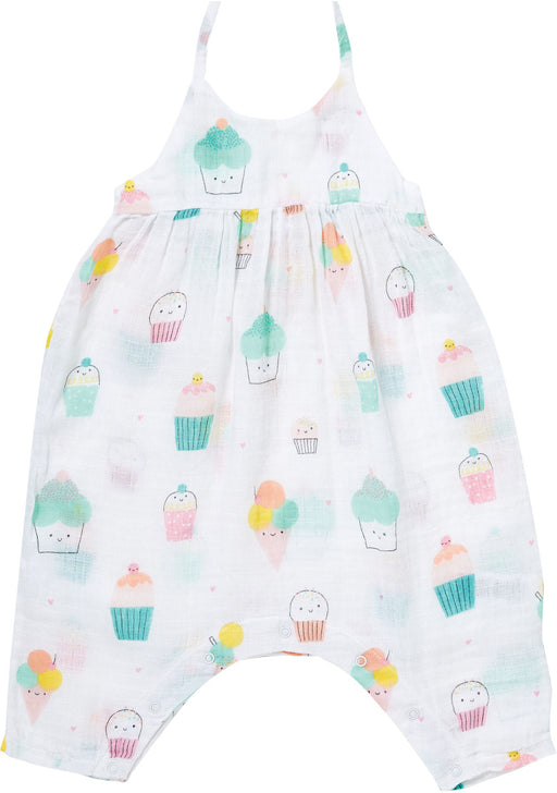 Angel Dear Muslin Romper With Bow Back Sprinkles
