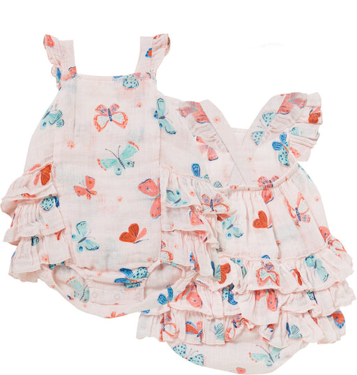 Angel Dear Muslin Ruffle Sunsuit Butterfly