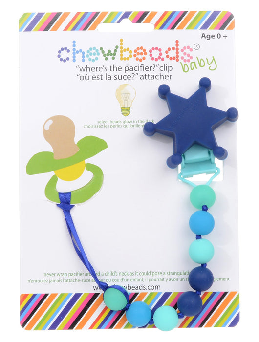 Chewbeads Sheriff's Badge Pacifier Clip