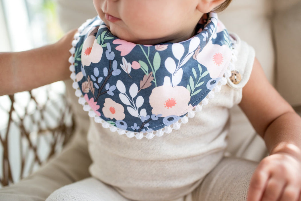 Copper Pearl Baby Fashion Bibs 2-Pack - Audrey