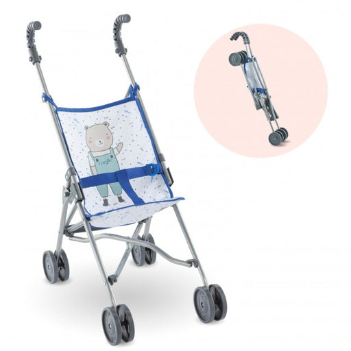 Corolle Blue Umbrella Stroller