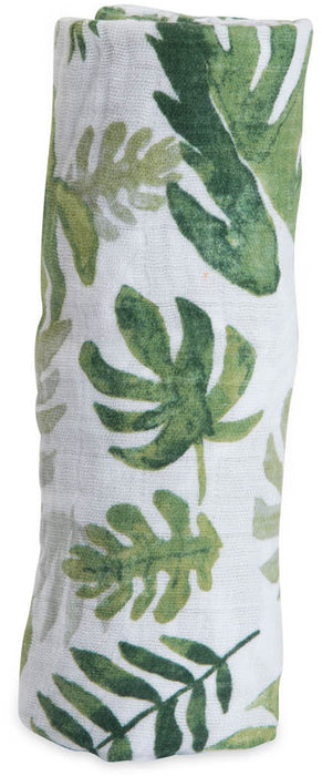 Little Unicorn Cotton Muslin Swaddle Tropical Leaf