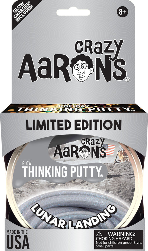 Crazy Aaron's Glow Thinking Putty - Lunar Landing