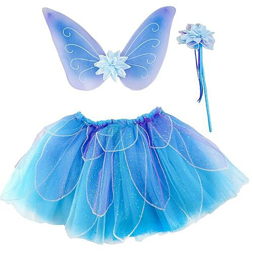 Fancy Flutter Skirt with Wings + Wand