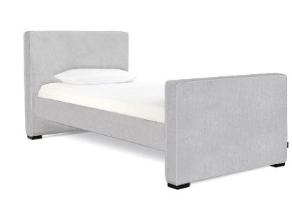 Dorma Twin High Headboard - High Footboard - Ash