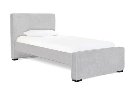 Dorma Twin High Headboard - Low Footboard - Ash