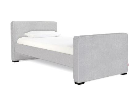 Dorma Twin - Low Headboard/High Footboard - Ash