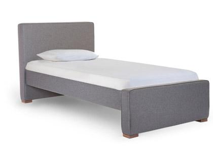 Dorma Twin High Headboard - Low Footboard - Wo DkG
