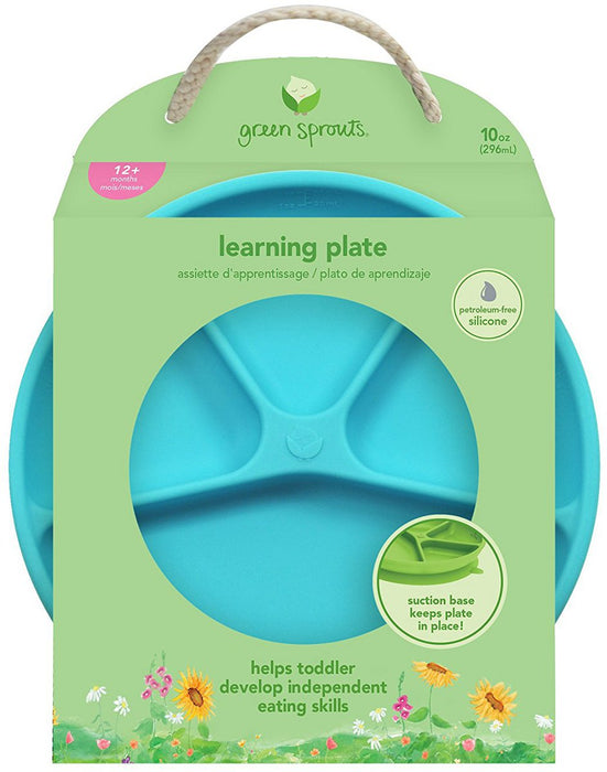 Green Sprouts Learning Plate - Aqua
