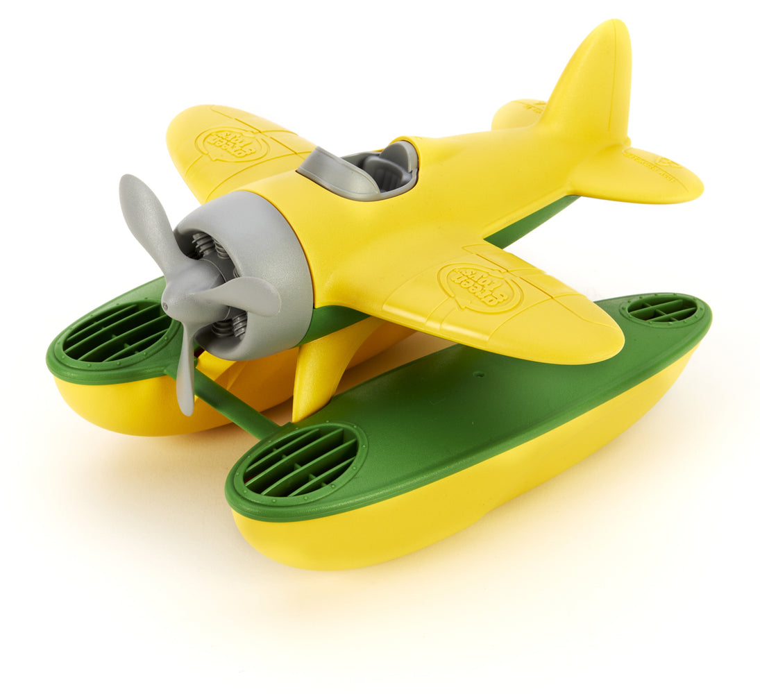 Green Toys Seaplane With Yellow Wings