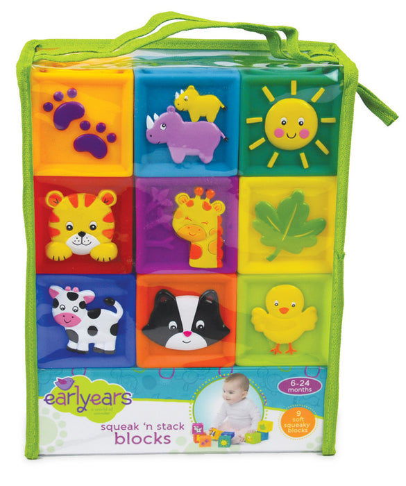 Earlyears Squeak 'n Stack Blocks