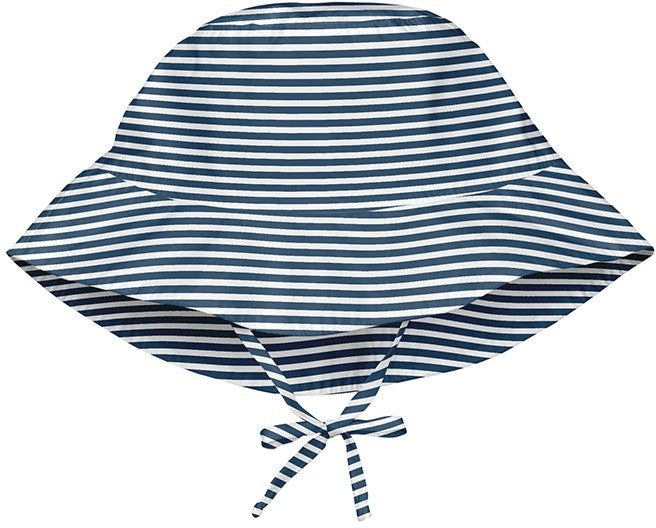 I Play Bucket Sun Hat Navy Stripe