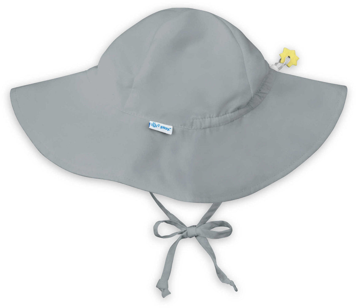 I Play Solid Brim Sun Protection Hat Grey