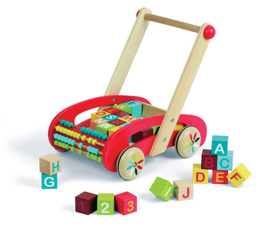 Janod ABC Buggy Baby Walker with Blocks