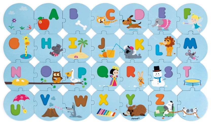 Janod I Learn the Alphabet in English Puzzle