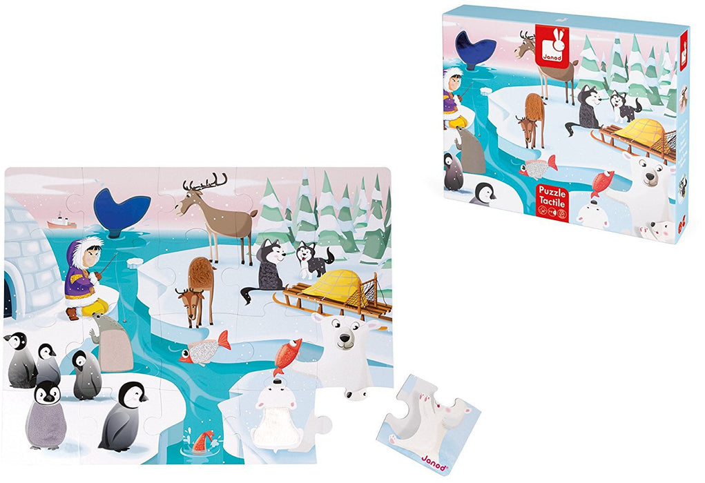 Janod Tactile Puzzle - Life on the Ice - 20 Pieces