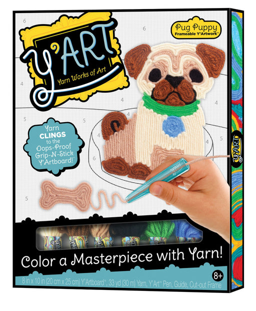 Kahootz Y'Art Pug Puppy Yarn Art