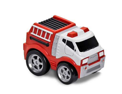 Kid Galaxy Soft & Squeezable Pull-Back Fire Truck
