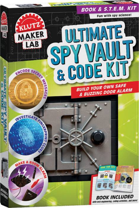 Klutz Maker Lab Ultimate Spy Vault and Code Kit