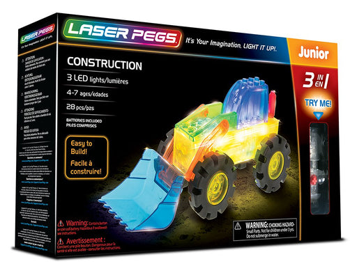 Laser Pegs Junior 3-in-1 Construction Vehicles
