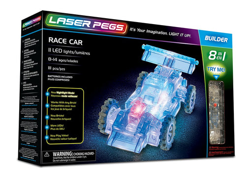 Laser Pegs 8-in-1 Race Car Building Kit