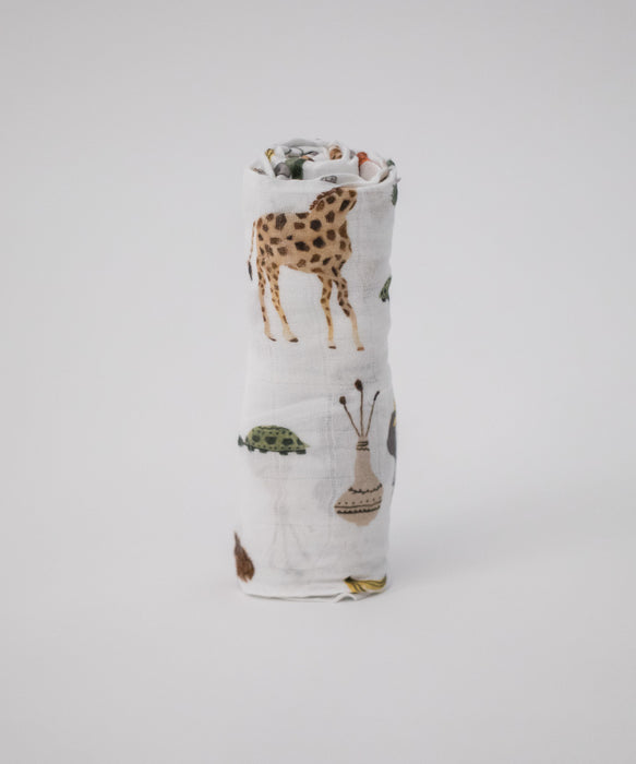 Little Unicorn Deluxe Swaddle - Safari Social