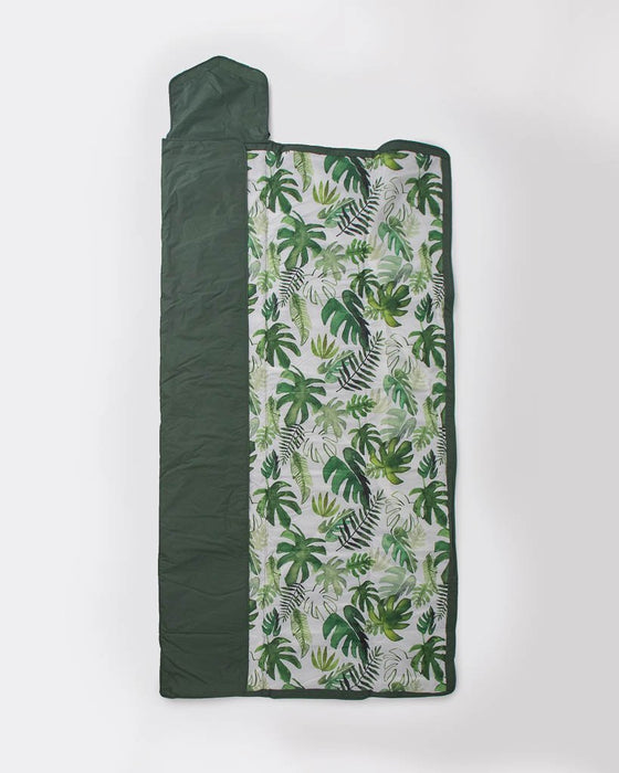 Little Unicorn Outdoor Blanket 5X7 - Tropical Leaf
