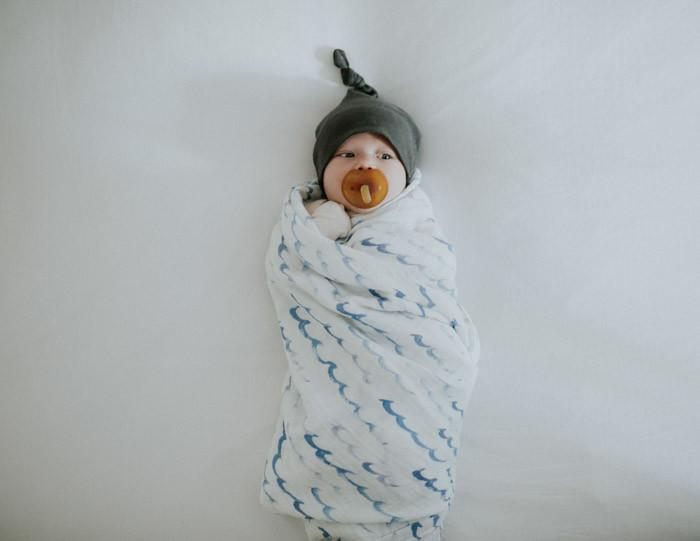 Little Unicorn - Cotton Muslin Swaddle - High Tide