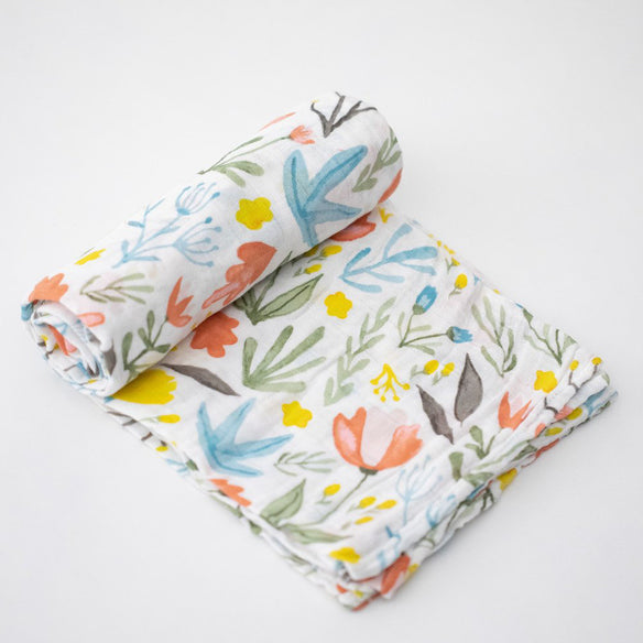 Little Unicorn Cotton Muslin Swaddle - Meadow