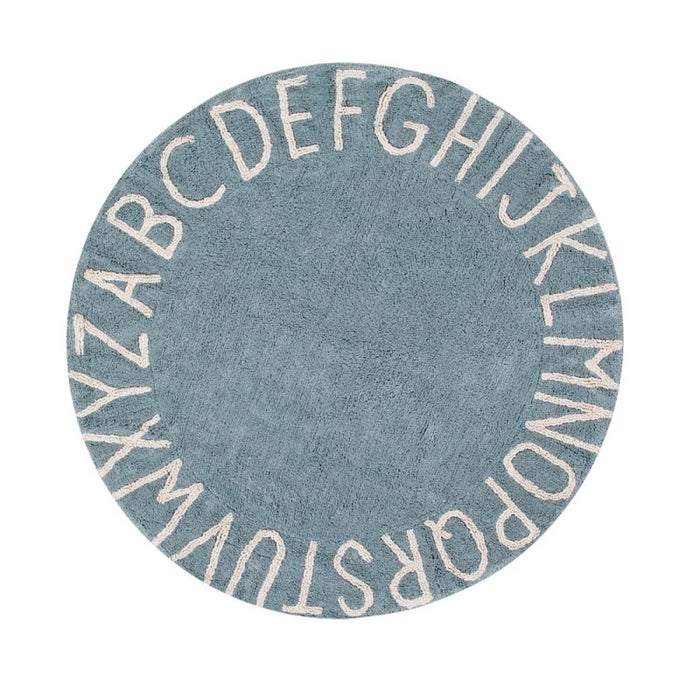 Lorena Canals Round ABC Rug - Vintage Blue/Natural