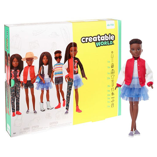 Mattel Creatable World Deluxe Character Kit Customizable Doll - Black Braided Hair