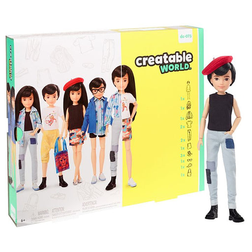 Mattel Creatable World Deluxe Character Kit Customizable Doll - Black Straight Hair