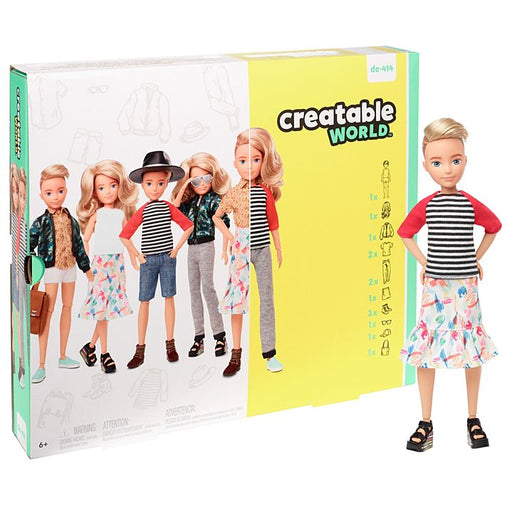 Mattel Creatable World Deluxe Character Kit Customizable Doll - Blonde Wavy Hair