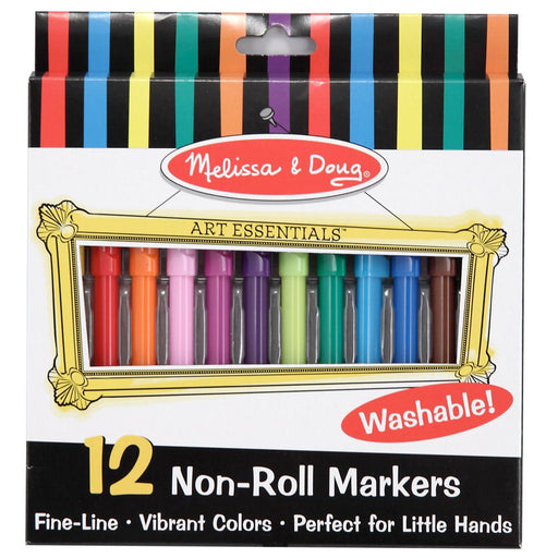 Melissa & Doug Non-Roll Markers - 12-pack