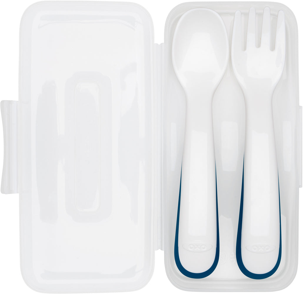 OXO Tot On-The-Go Fork and Spoon Set