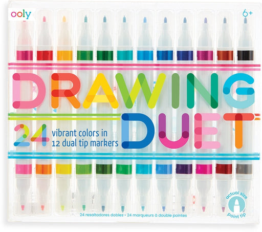 Ooly - Drawing Duet 12 Dual Tip Markers