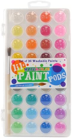 Ooly Lil' Paint Pods Watercolors and Brush