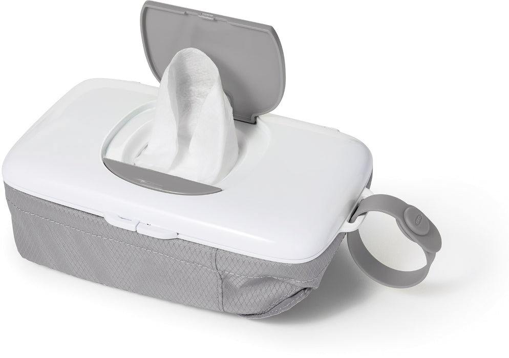 Oxo Tot Wipes Dispenser with Diaper Pouch - Grey