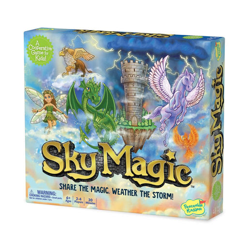 Peaceable Kingdom Sky Magic Cloud Hopper Game
