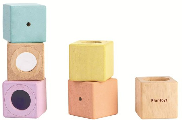 Plan Toys Pastel Sensory Blocks