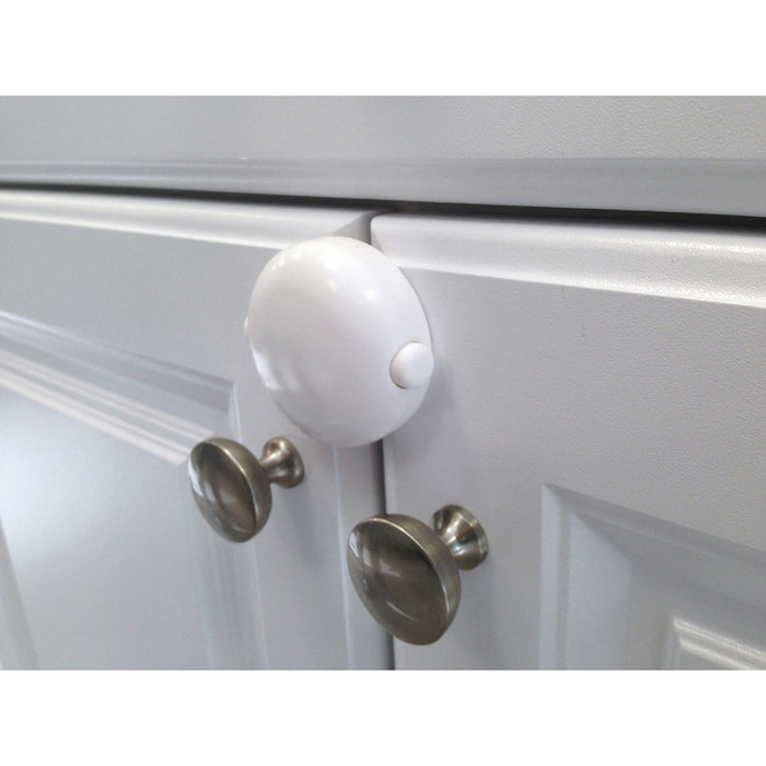 Qdos Adhesive Double Door Lock - White