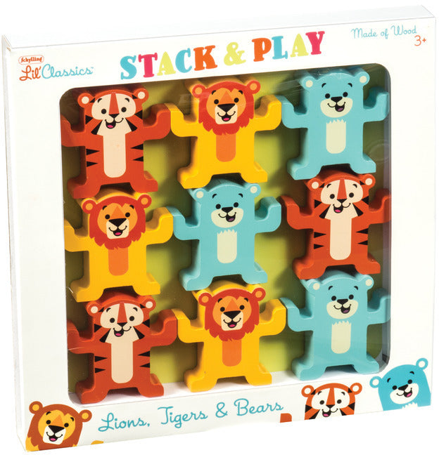Schylling Little Classics Stack + Play Animals