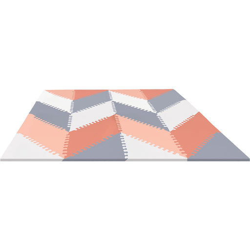 PLAYSPOT GEO FOAM FLOOR TILES GREY/PEACH