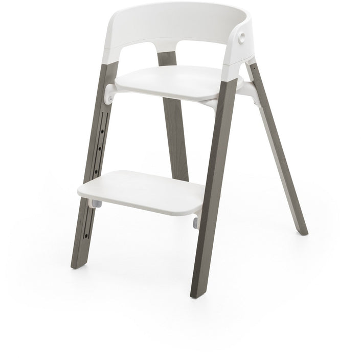 Stokke Steps High Chair Complete - White/Hazy Grey